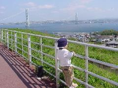 へばりついて橋より船を見るぐら